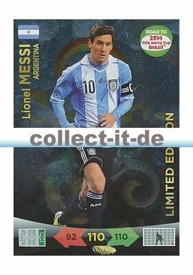 Panini Adrenalyn Road World Cup Brazil - Lionel Messi - LIMITED EDITION
