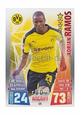Match Attax Extra 15/16 MX-474 - Adrian Ramos - Neue Transfers
