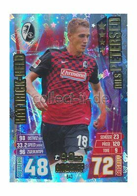 Match Attax Extra 15/16 MX-643 - Nils Petersen - Hattrick Helden