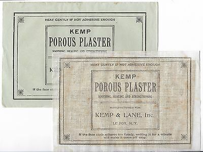 Antique Victorian KEMP & LANE POROUS PLASTER Medical Advertising Medicine Patch