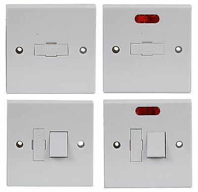 Electric LIGHT SWITCH WALL PLATES 13A FUSE Switched, Unswitched, NEON Light