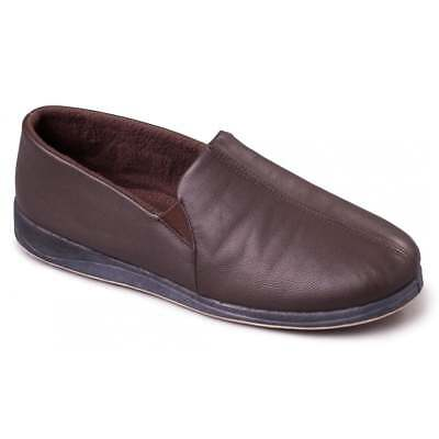 Padders Ben - Brown (Leather) Mens Slippers