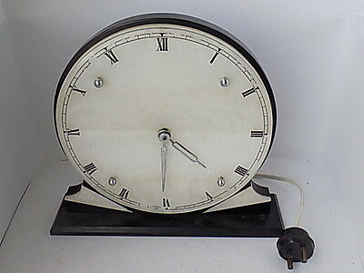 Art Deco Mantle Clock~Marble Base~Electric~Made In England
