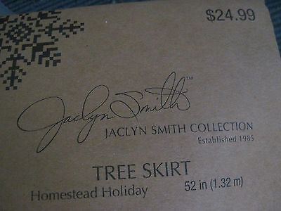 New Jaclyn Smith 52 In. 100 % Polyester Christmas Tree Skirt