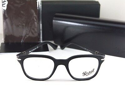 NEW AUTHENTIC PERSOL PO 3093-V 9000 Black Optical Eyeglass RX Frame NIB 48mm