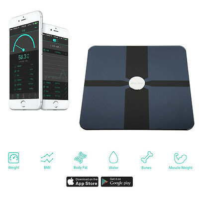 BerryKing SmartScale Bluetooth Waage Überwachung per APP iPhone Android 8 User