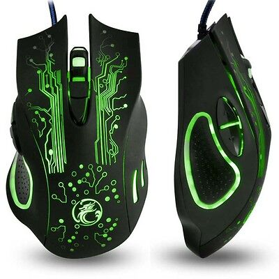 Estone Professional LED Optical USB Wired Gaming Mouse Gamer Computer PC Laptop