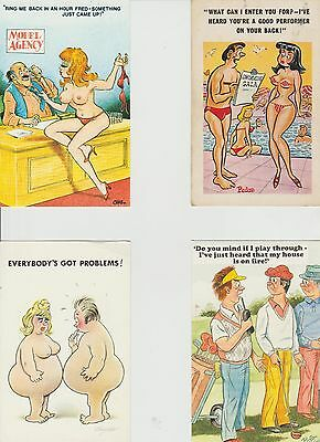 3 bamforth postcards 1 sunny pedro cards in very good condition