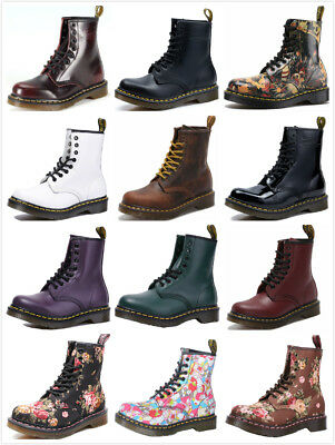 Dr Martens 8-Eye Classic Airwair 1460 Leather Canvas Ankle Boots Unisex UK 3-11