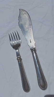 Pair of antique James Deakin & Sons Sheffield silverplated fish servers