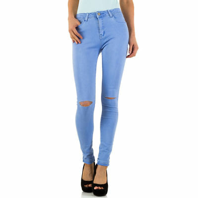 DESTROYED HIGH WAIST SKINNY DAMEN JEANS XL/42 Lila 1029 0€