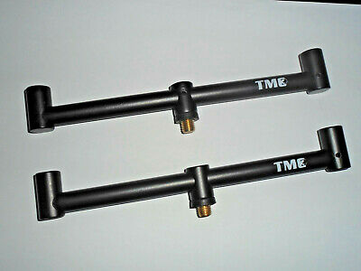 TMC 2 x 2 Rod Anodized Aluminium buzz bars. 20cm. Lightweight. Standard Threads