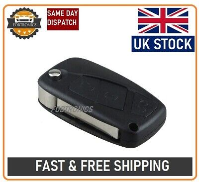 3 Button Flip Key Fob Case For FIAT PANDA IDEA PUNTO STILO DUCATO + LOGO A44