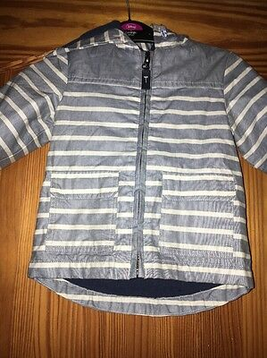 Baby Boys Jacket  Hooded 12-18 Months Blue Mix Marks & Spencer's