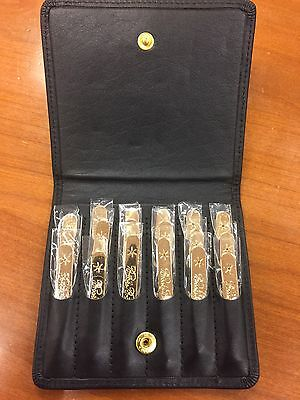 Brooks Brothers Gold Collar Stays Stainless Steel Set Of 18 Brand New 3 Lengths