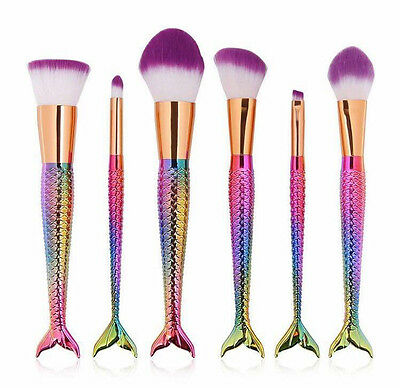 10pcs Kabuki Style Unicorn Professional Foundation Blusher Face Makeup Brush Set