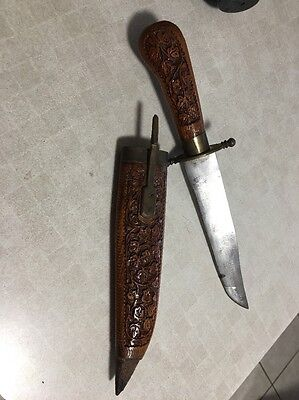 Wooden Hand Carved Ceremonial Knife from India from early 1900s