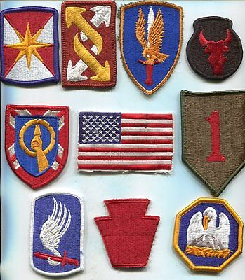 US Army Color Patches Lot of 10 Different No 3