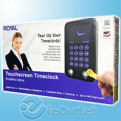 BRAND NEW & SEALED ROYAL TIME PILOT VETRO ELECTRONIC TIME CLOCK w/ 10 iBUTTONS