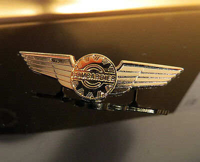 WINGS BOMBARDIER JET PILOT gold for Pilots & Aviators