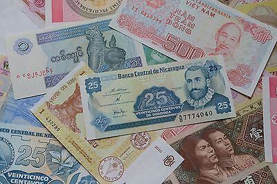Lot of 10 World Banknotes Uncirculated Mixed Foreign Paper Money