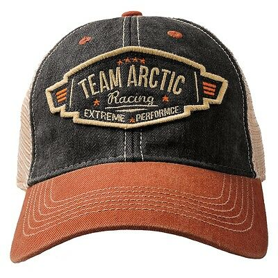 Arctic Cat Team Arctic Patch Vintage Mesh Back Cap - Black & Orange - 5273-101