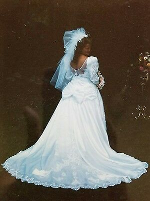 true vintage Jessica Mcclintock wedding gown 80s awesome heavily beaded size 18