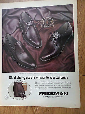 1965 Freeman Shoes Ad  Blackcherry Adds new Flavor to your Wardrobe