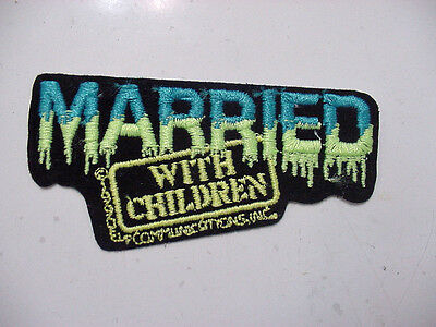 lot of 3 VINTAGE MARRIED WITH CHILDREN PATCH - EMBROIDERED-IRON ON 90'S  LIC. 4""