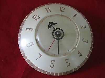 Vintage Westclox Stanton S13-L Round Retro Metal Wall Clock - Holds Time in VGC