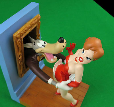 Tex Avery Demons & Merveilles Droopy Dog, The Wolf, Girl Red Bookend Set of Two