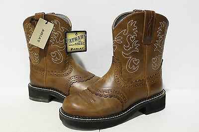 "NBJ-783 Ariat Women's Fatbaby Scalloped 8"" Western Boots 5.5B"