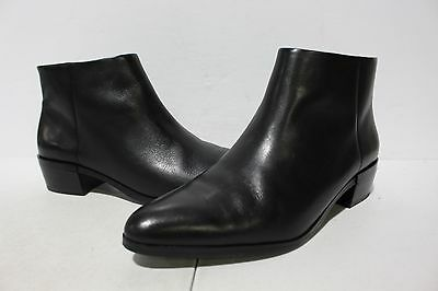 NBJ-820 Coach Montana Ankle Boot Black Soft Veg Leather  Zipper Side Women's 8M