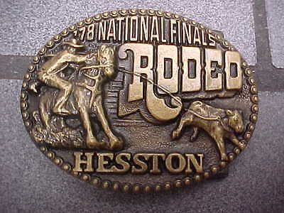 Vintage Hesston National Finals Rodeo 1978 4th Edition Belt Buckle NFR 78