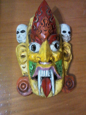 Balinese  Hand Carved & Painted Wooden  Dancer Mask