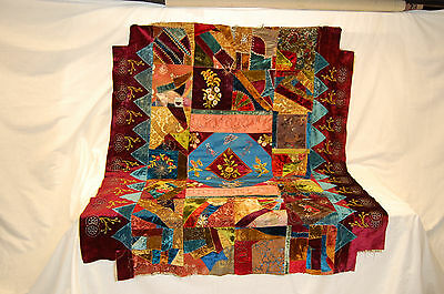 Silk Crazy Quilt Dated 1888, American