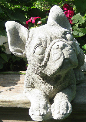 Concrete Boston Terrier Dog Angel Statue