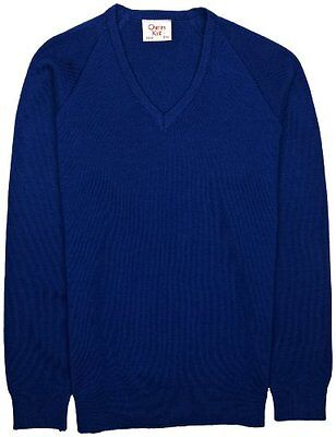 (TG. C40 IN- UK) Blu (Royal Blue) Charles Kirk Coolflow - Maglia jumper con coll