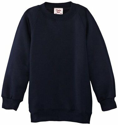 (TG. C32 IN- UK) Blu (Navy blue) Charles Kirk Coolflow - Felpa, colletto tondo,