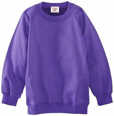 (TG. C28 IN- UK) Viola (Purple) Charles Kirk Coolflow - Felpa, colletto tondo, ,