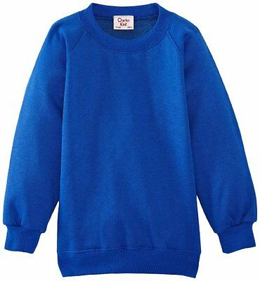 (TG. C44 IN- UK) Blu (Royal Blue) Charles Kirk Coolflow - Felpa, colletto tondo,