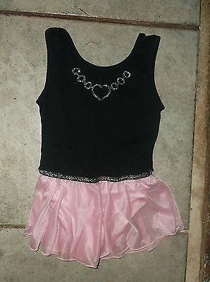 Just Imagine black dance leotard with pink skirt, little girl size S