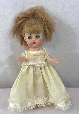 Vintage Baby Susan Doll Sleeps Wets Blue yellow Dress Size: 8.5""