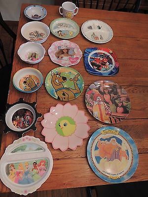 Melamine character child mealtime dinnerware  Misc pieces 17