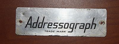 Large Vintage Addressograph Nameplate - Circa 1930
