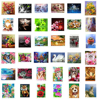5D DIY Diamond Painting Home Decro Flower Animals Embroidery Cross Crafts Stitch