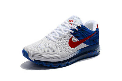 NIKE AIR MAX 2017 MEN'S/MENS SHOES/SNEAKERS/RUNNING/TRAINERS/SPORTS-White& Blue
