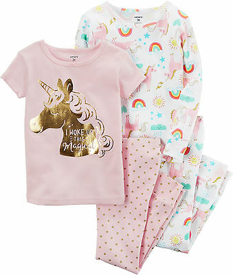Carters Baby Girls 4-pc. Unicorn Pajama Set