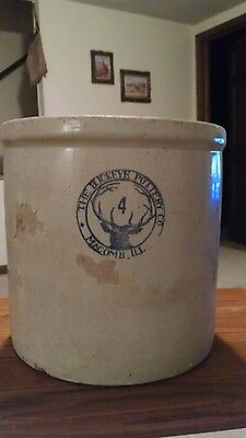 Antique Stoneware 4 Gal. Crock (The Buckeye Pottery Co.)