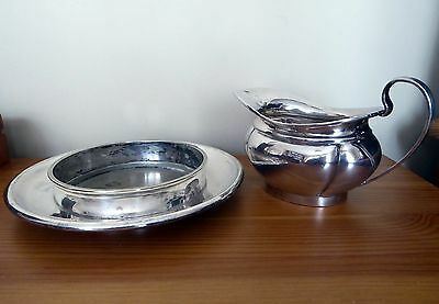 A Mapin& Webb Prince's Plate, jug and dish/ wine bottle holder